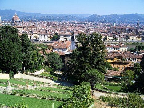 View from Giardino Bardini, Florence, Tuscany, Italy