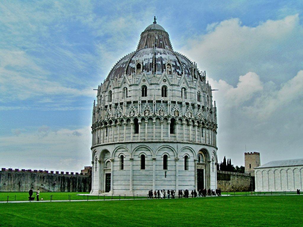 Pisa Baptistry Tuscany Italy