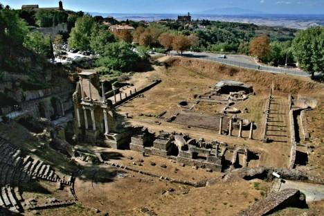 Roman Theater in Volterra, Tuscany, Italy