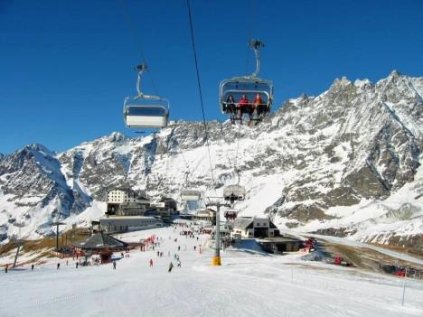 Cervinia ski resort, Aosta, Italy