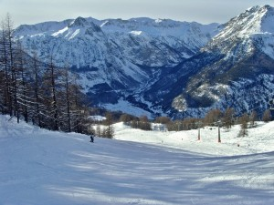 Skiing in Bardonecchia, Piedmont, Italy