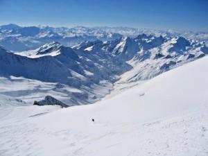 Heliskiing in Courmayeur, Aosta Valley, Italy