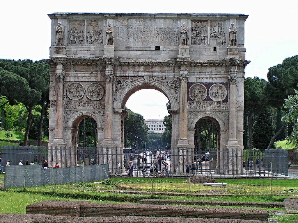 Arch of Constantine – built in Rome for the first Christian emperor