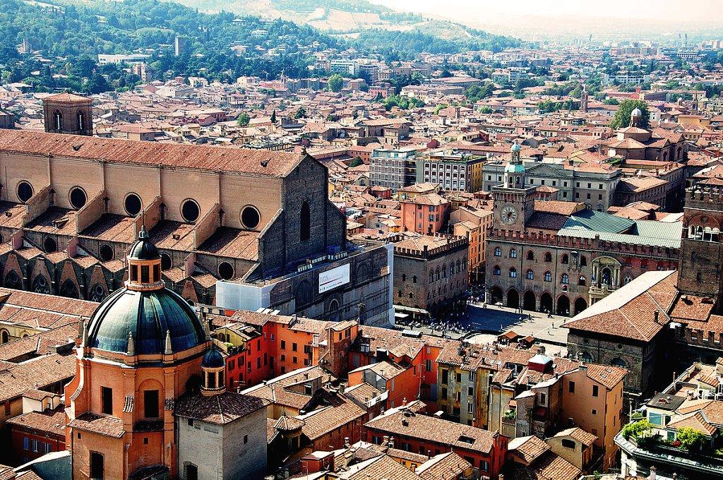 Bologna from Torre degli Asinelli, Emilia-Romagna, Italy