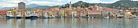 Oneglia port, Imperia, Liguria, Italy