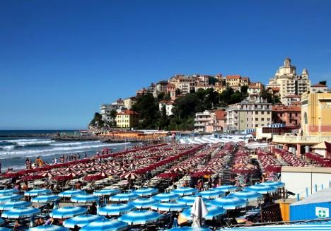 Porto Maurizio beach side, Imperia, Liguria, Italy