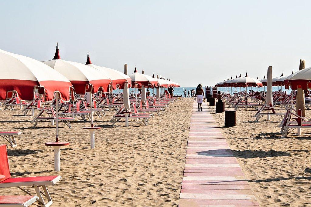 Beach in Rimini, Emilia-Romagna, Italy