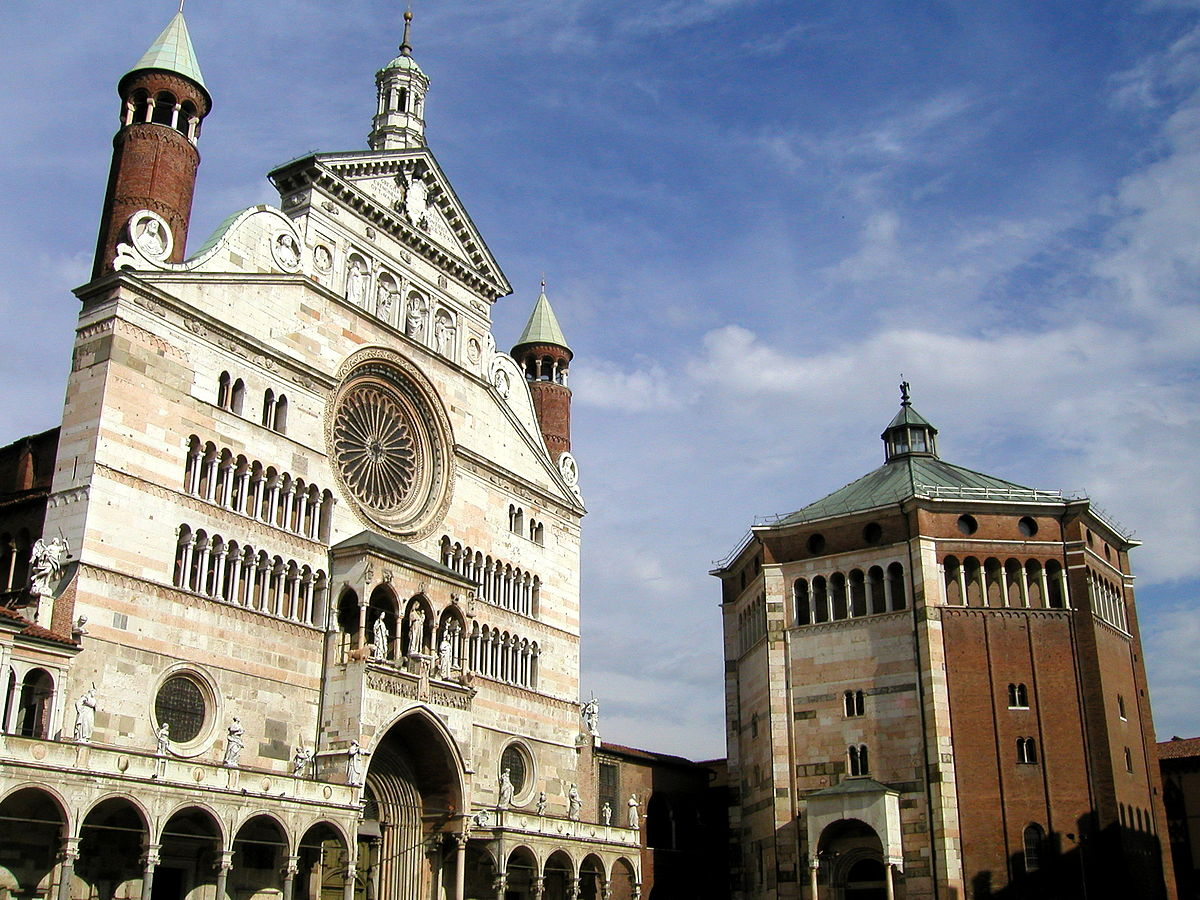 Cathedral and Baptistery of Cremona, Lombardy, Italy