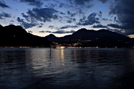 Lake Como at night, Lombardy, Italy