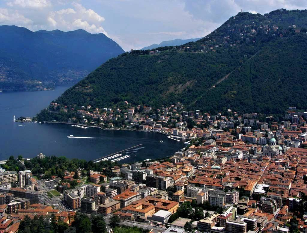 Panorama of Como, Lombardy, Italy