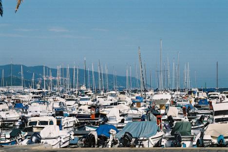 Port in La Spezia, Liguria, Italy