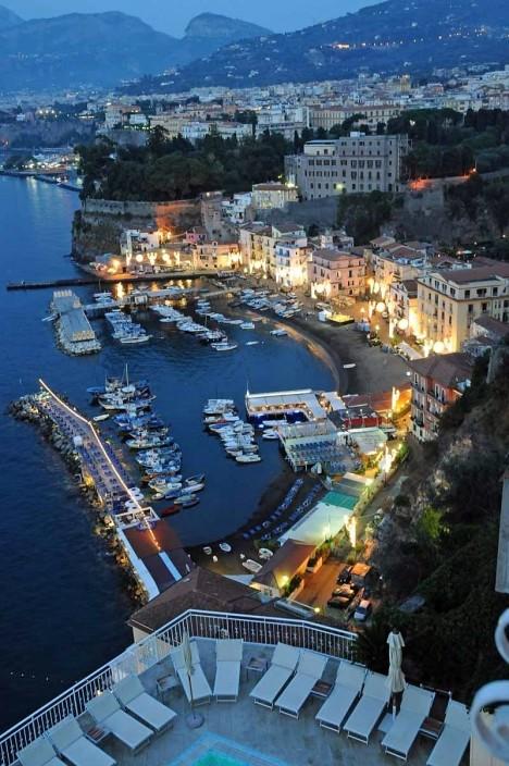 Evening in Sorrento, Campania, Italy