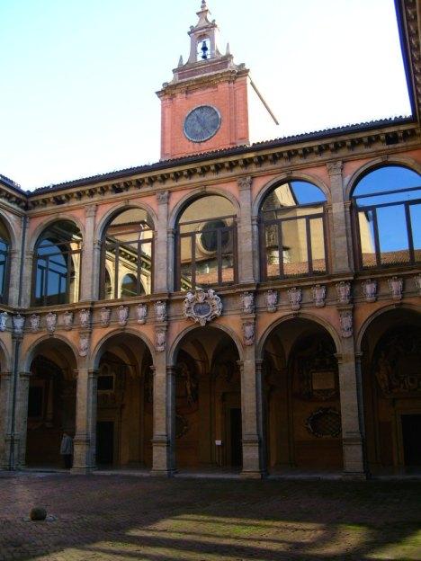 Palazzo dell Archiginnasio, Bologna, Emilia-Romagna, Italy