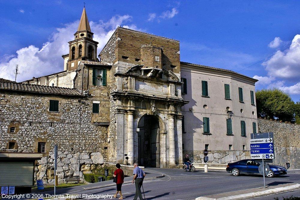 Porta Romana, Amelia, Umbria, Italy