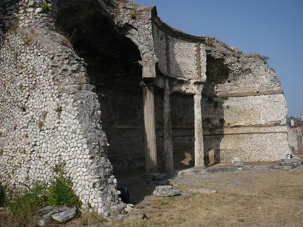 Ruins of the Sanctuary of Fortuna Primigenia, Palestrina, Lazio, Italy