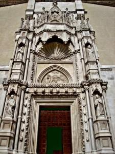 Gothic portal, Church of San Francesco alle Scale, Ancona, Italy