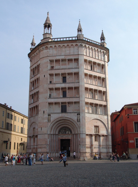 Baptisterium in Parma, Italy