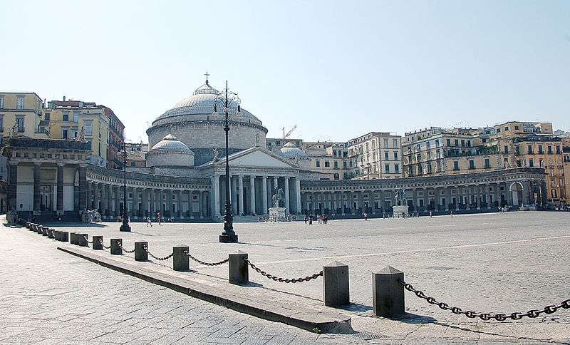 Piazza del Plebiscito, one of Naples' largest public squares
