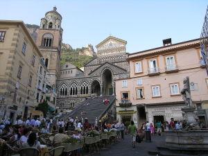 Piazza del Duomo and Amalfi Cathedral, Amalfi, Campania, Italy