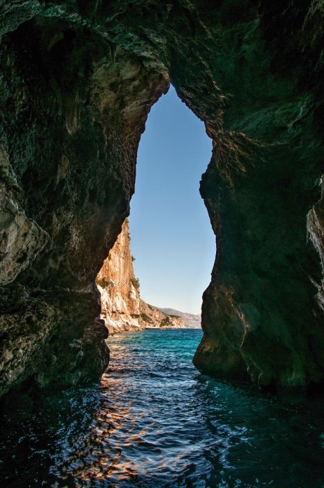 In the cave, Golfo di Orosei. Sardinia, Italy
