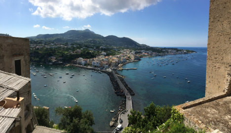 View of Ischia from Castello Aragonese, Campania, Italy