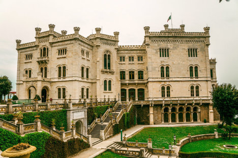 Miramare Castle and the park, Trieste, Italy