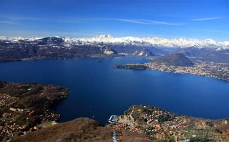Panorama of Lake Maggiore from Poggio Sant'Elsa, Italy