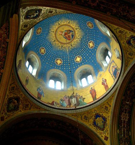 Cupola of Serbian Orthodox church in Trieste, Friuli-Venezia Giulia, Italy