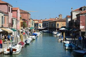 Typical streets of Murano, Veneto, Italy