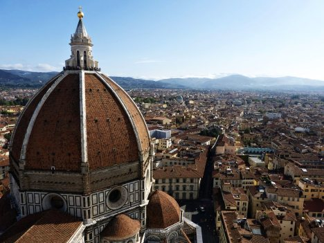 View of Florence from Cathedral, Tuscany, Italy