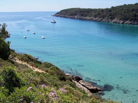 Beach Fetovaia, Island of Elba, Italy