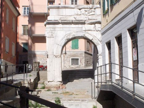 Remains of Roman Arch, Italy