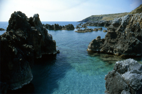 Coastline in Scalea, Calabria, Italy