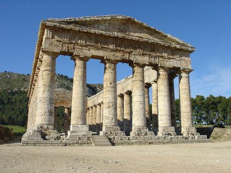 The Doric temple of Segesta, Sicily, Italy
