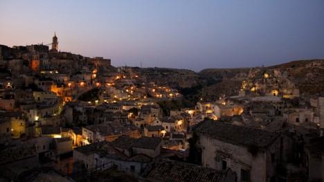 Matera at night, Basilicata, Italy