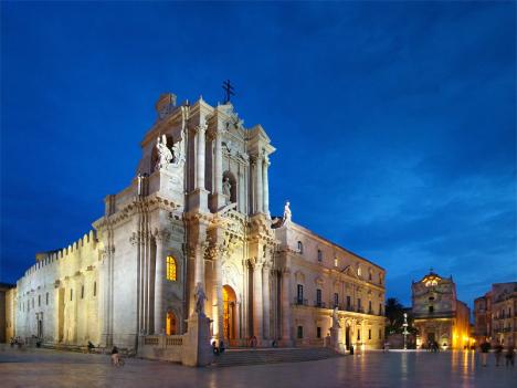 Piazza Duomo, Syracuse, Sicily, Italy
