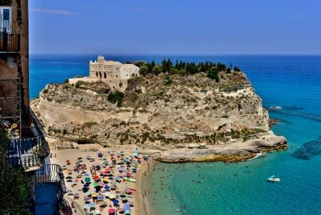 The monastery of Santa Maria dell'Isola, Tropea, Calabria, Italy