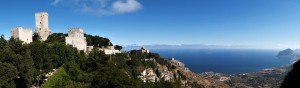 Panorama from Erice, Sicily, Italy