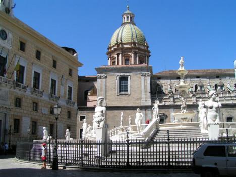 Piazza Pretoria, Palermo, Sicily, Italy