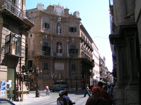 Piazza Vigliena - Quattro Canti, Palermo, Sicily, Italy