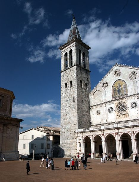 The cathedral of Santa Maria dell'Assunta in Spoleto, Umbria, Italy
