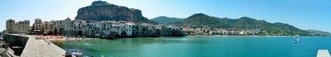 Cefalu panorama, Sicily, Italy