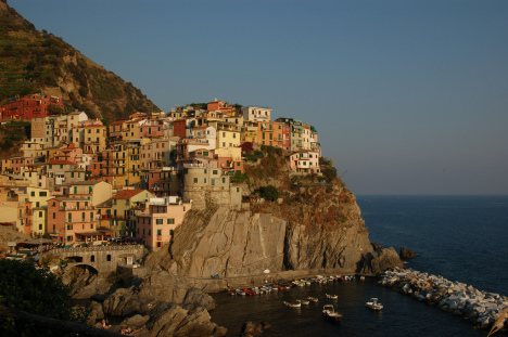 Manarola - one of five villages of Cinque Terre, Liguria, Italy