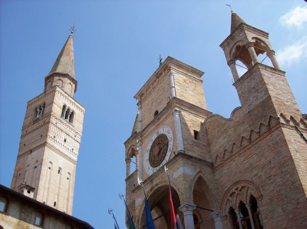 Pordenone City Hall and Campanile, Friuli-Venezia Giulia, Italy