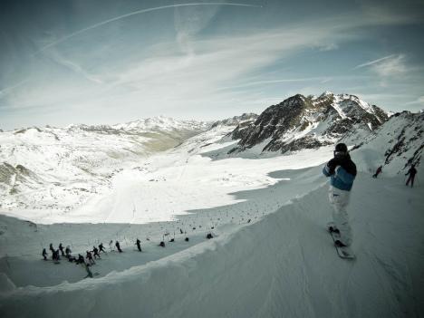 Schnalstal Glacier skiing, Italy