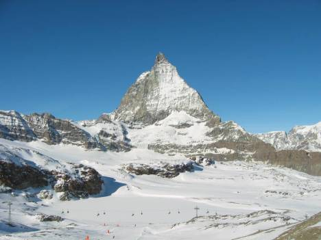 Skiing at Matterhorn, Italy