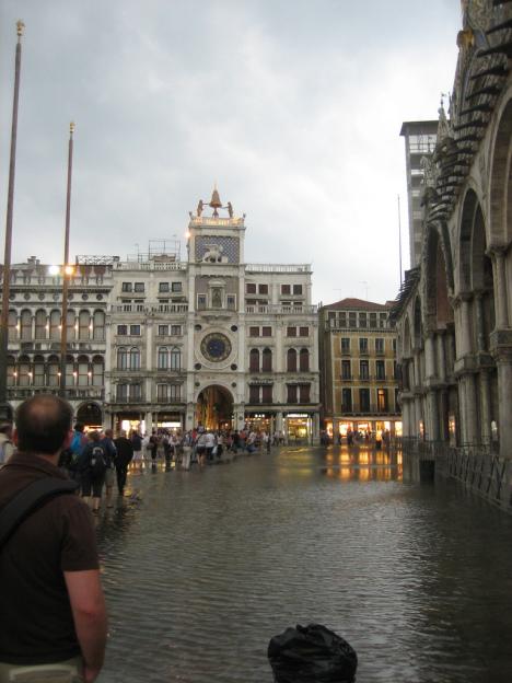 Aqua Alta, Piazza San Marco, Venice, Veneto, Italy