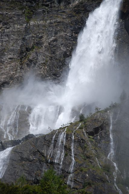 Cascate del Serio - a huge waterfall, Lombardy, Italy