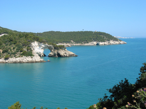 Gargano Coastline around Vieste, Puglia, Italy