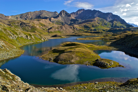 Mount Taou Blanc and the lakes, Gran Paradiso National Park, Italy